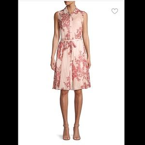 Nanette Lepore Floral pintucked shirtdress